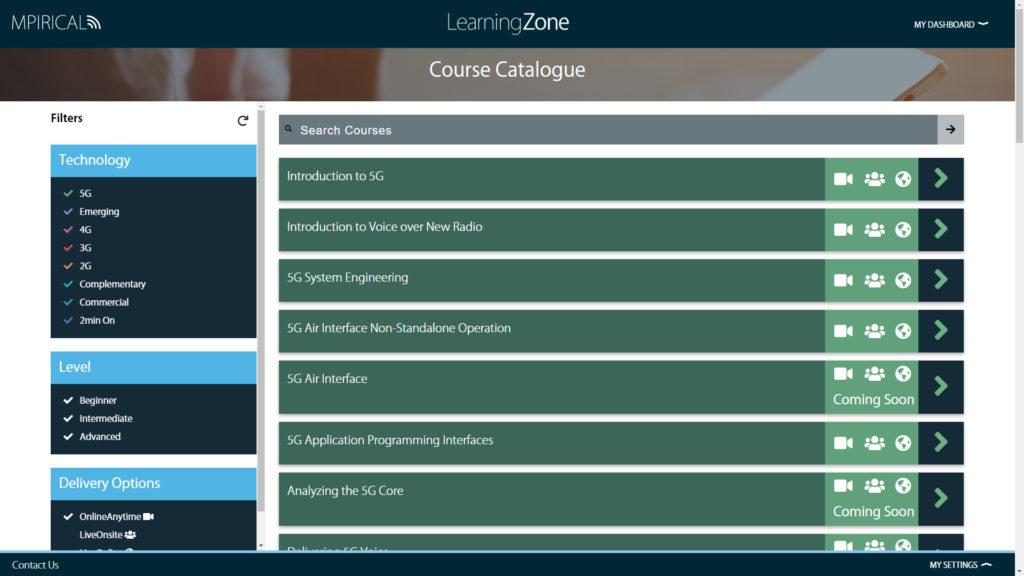 Mpirical LearningZone Course Catalogue
