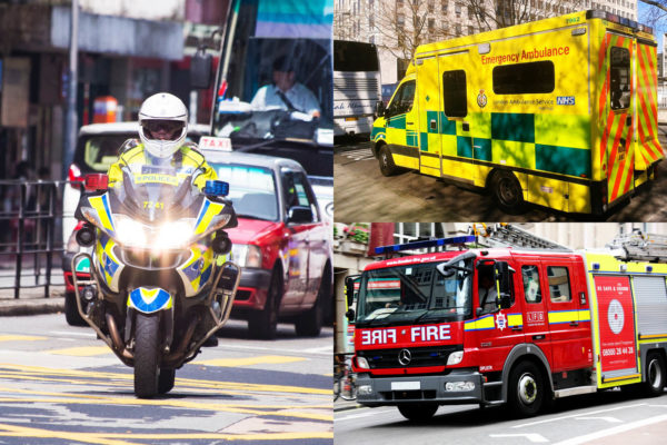 First Responders - Police, Ambulance and Fire Service