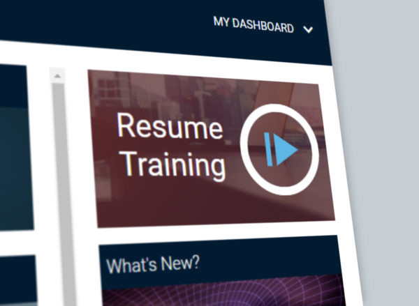 Resume Training, as seen in the LearningZone
